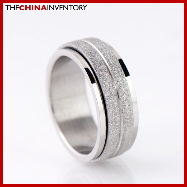 8MM SIZE 7.5 STAINLESS STEEL ROTATING BAND RING R1804