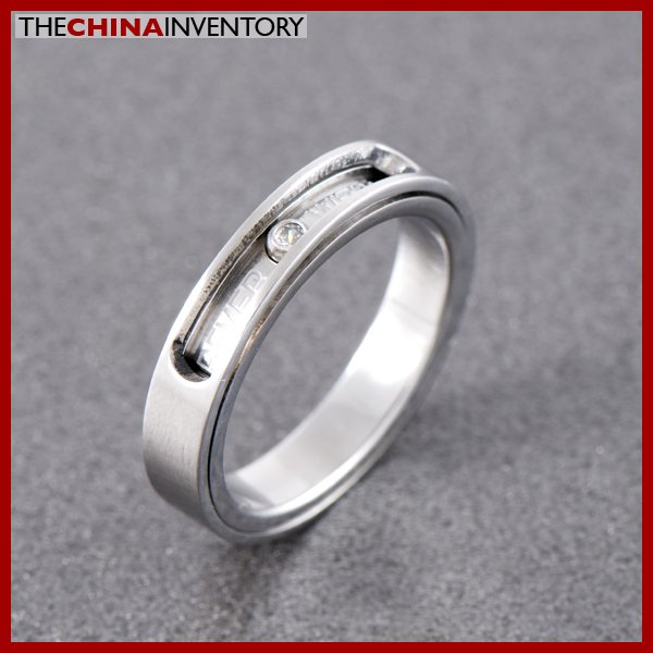 4MM SIZE 3 WOMENS STAINLESS STEEL LOVE BAND RING R0704A