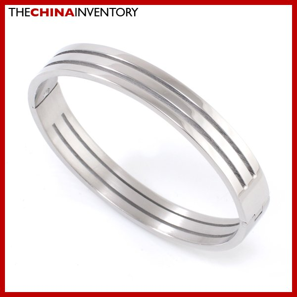 GIRLS STAINLESS STEEL DOUBLE GROOVE CUFF BANGLE B2109A