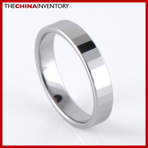 4MM SIZE 5 FACETED TUNGSTEN CARBIDE BAND RING R1201B