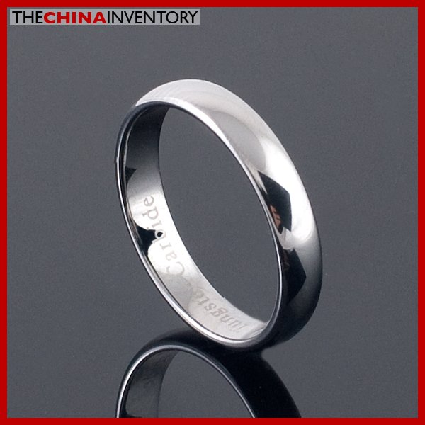 3.5MM SIZE 4.5 TUNGSTEN CARBIDE RING WEDDING BAND R2104