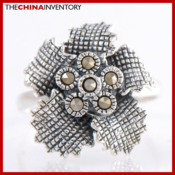 SIZE 6.5 925 STERLING SILVER FLOWER RING SIL2205