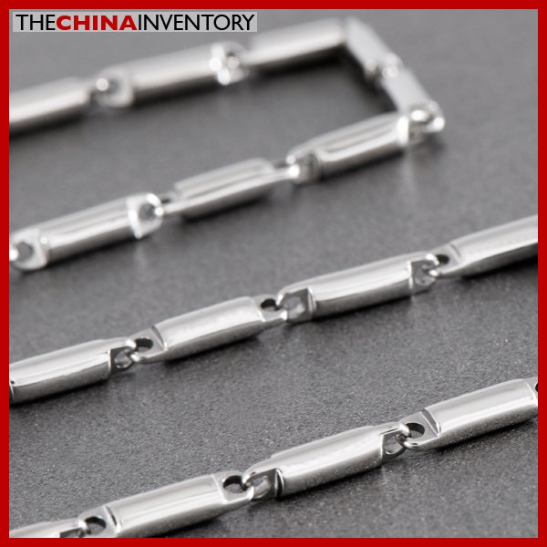 "30"""" 4MM STAINLESS STEEL BAMBOO LINKS NECKLACE N0716"