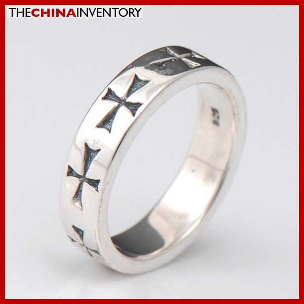 SIZE 6 925 STERLING SILVER GOTHIC CROSS RING SIL2302