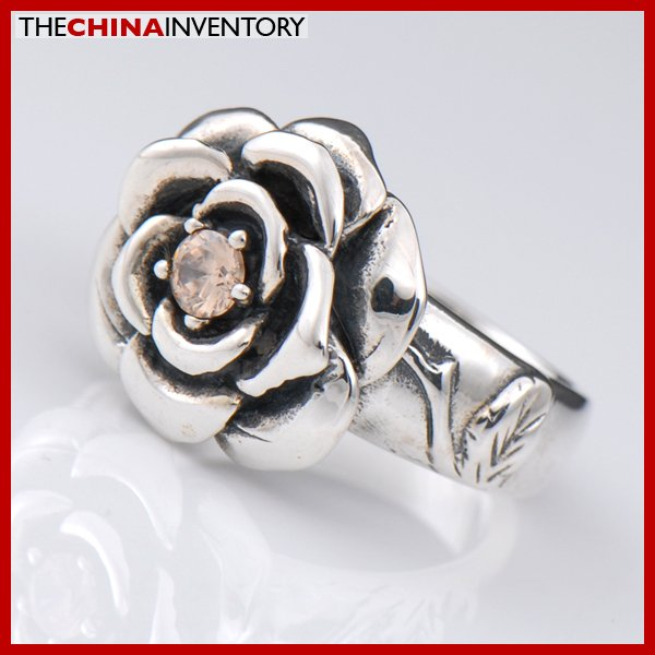 GIRLS SIZE 7 925 STERLING SILVER ROSE RING SIL2220