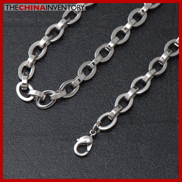 "7MM 22"""" STAINLESS STEEL OVAL LINKS CHAIN NECKLACE N2304"