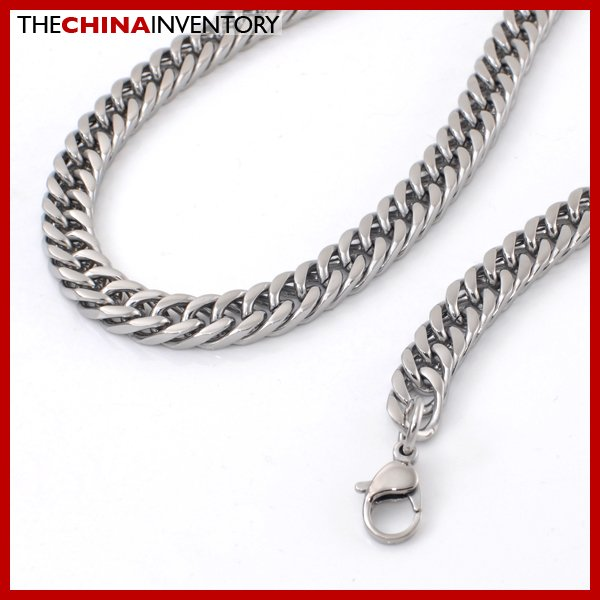 """9MM 24"""""""" STAINLESS STEEL CURB CHAIN NECKLACE N2406"""