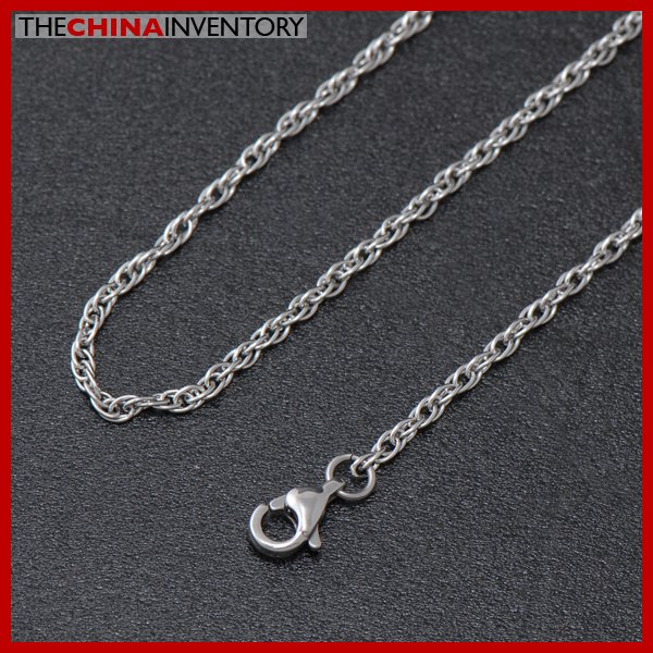 "2.5MM 18"""" STAINLESS STEEL TRIPLE CABLE NECKLACE N2301"