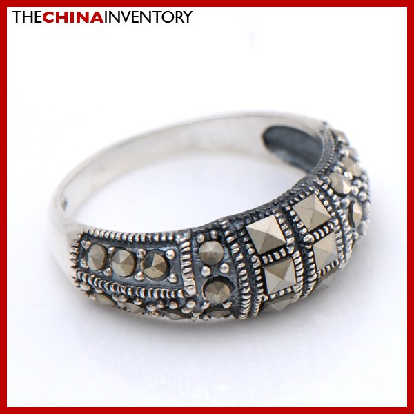 SIZE 6 MACARSITES 925 STERLING SILVER RING SIL2503