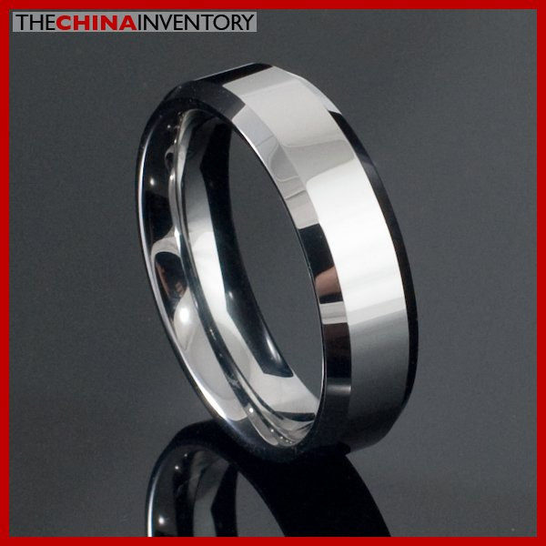 6MM SIZE 6.5 TUNGSTEN CARBIDE BEVELED-EDGE RING R2105B