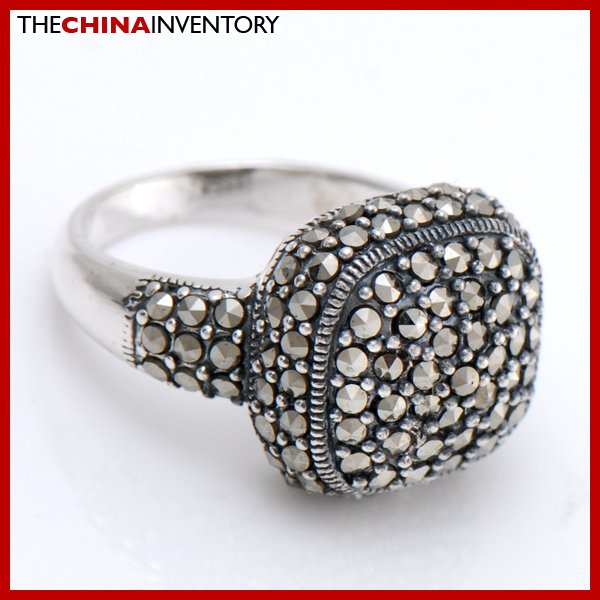 SIZE 8 MACARSITES 925 STERLING SILVER RING SIL2505