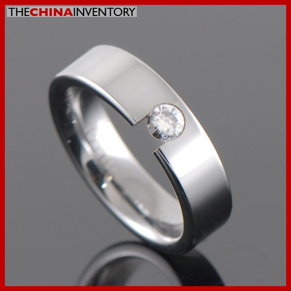 6MM SIZE 8 TUNGSTEN CARBIDE CZ WEDDING BAND RING R2602