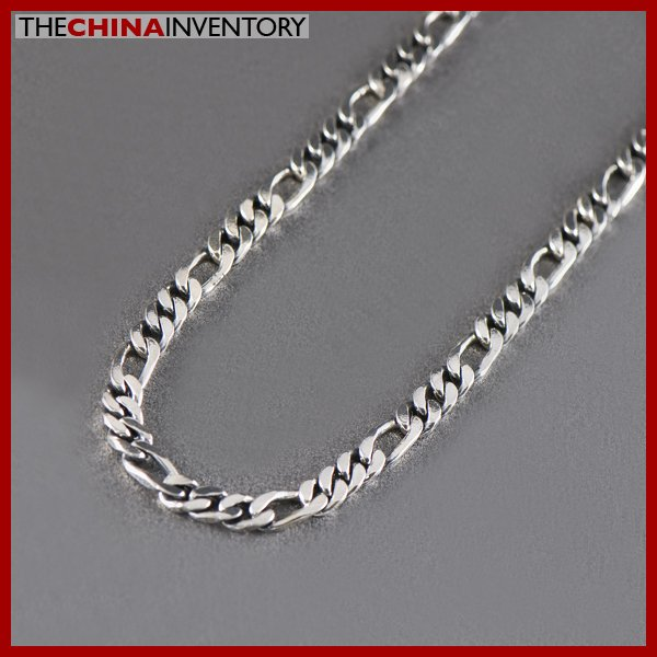 "4.5MM 24"""" STERLING SILVER FIGARO CURB NECKLACE SIL1306A"