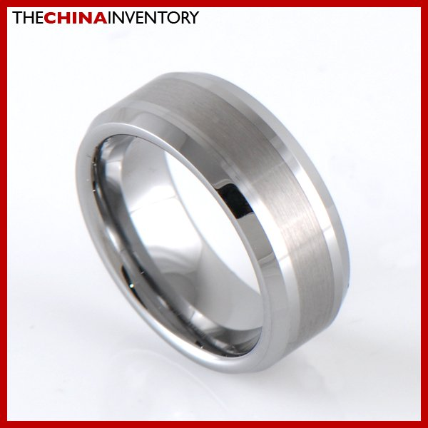 8MM SIZE 10 TUNGSTEN CARBIDE WEDDING BAND RING R1903B