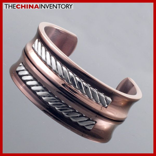 14MM ROSE GOLDEN STAINLESS STEEL CUFF BANGLE B2615