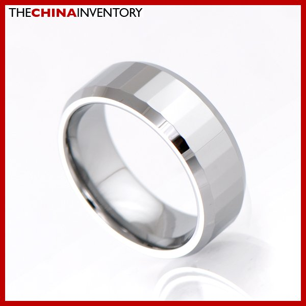 8MM SIZE 7 TUNGSTEN CARBIDE WEDDING BAND RING R1503B