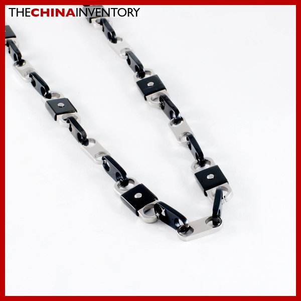 "23"""" STAINLESS STEEL LOCK LINKS NECKLACE N1020B"