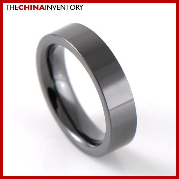 5MM SIZE 6 HI TECH BLACK CERAMIC WEDDING RING R2601