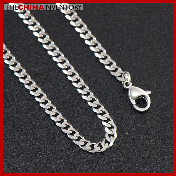 "3.5MM 20"""" STAINLESS STEEL CURB CHAIN NECKLACE N2001A"