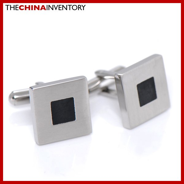 CLASSIC STAINLESS STEEL SQUARE CUFFLINKS C2706