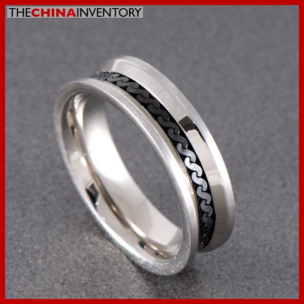 6MM SIZE 6 STAINLESS STEEL CURB CHAIN BAND RING R0706