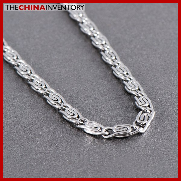 """20"""""""" 4MM STAINLESS STEEL CLIPS LINK NECKLACE N3005"""