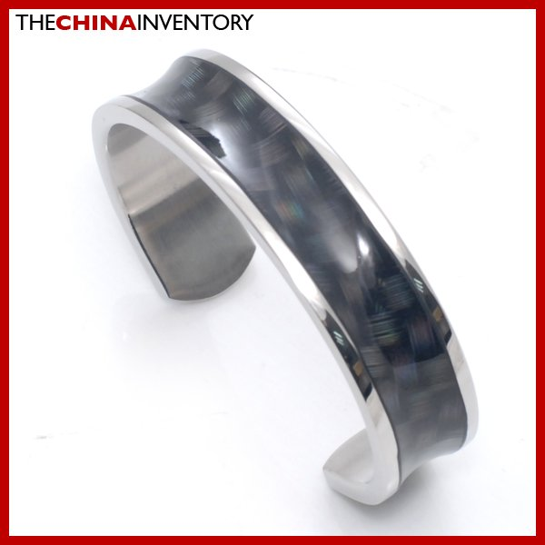 "7"""" STAINLESS STEEL OPEN CUFF BANGLE BRACELET B2704"