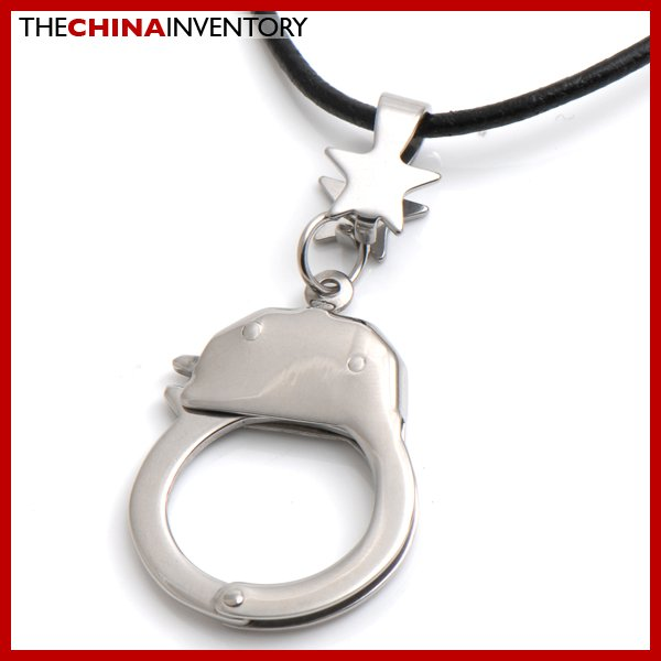 UNIQUE STAINLESS STEEL HANDCUFF PENDANT P3408