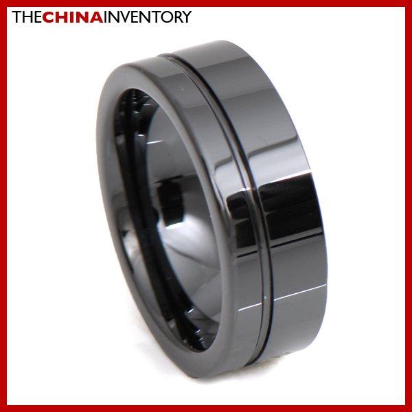 8MM SIZE 8 HI TECH BLACK CERAMIC WEDDING RING R3403