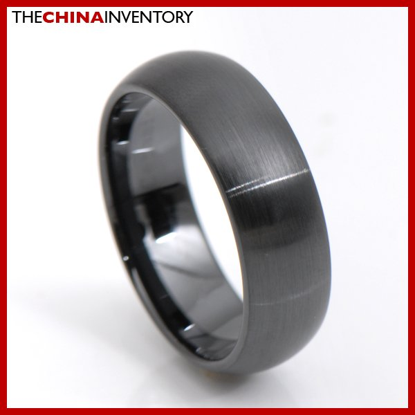 8MM SIZE 11 BLACK CERAMIC WEDDING BAND RING R3411