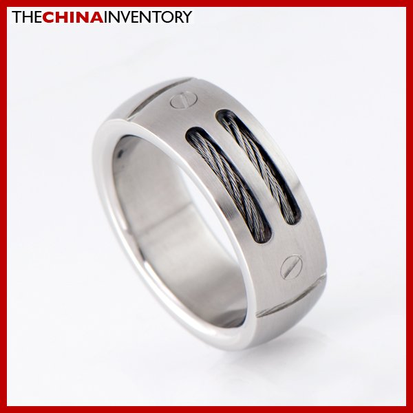 8MM SIZE 7.5 STAINLESS STEEL DOUBLE WIRE RING R1802