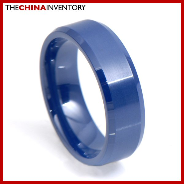 8MM SIZE 13 MEN'S BLUE CERAMIC WEDDING BAND RING R3415