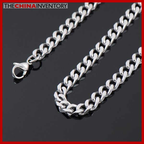 """22"""""""" 5.5MM STAINLESS STEEL CURB CHAIN NECKLACE N2502"""