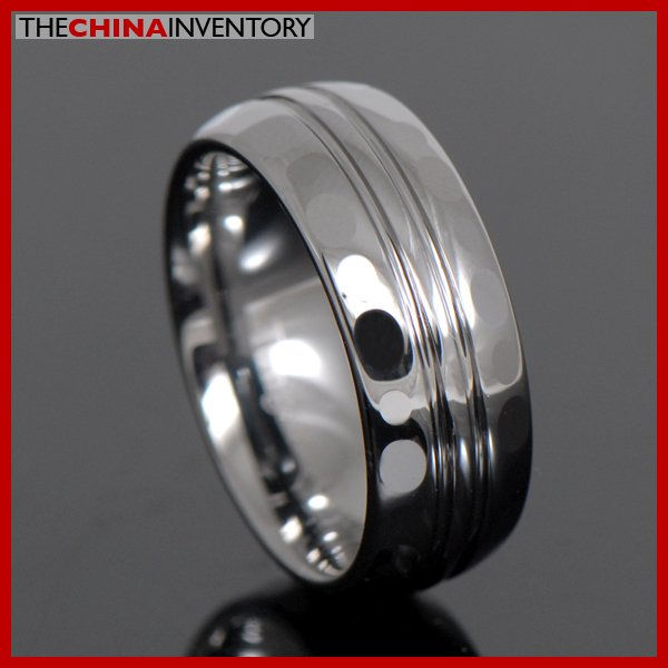 MEN'S SIZE 8 TUNGSTEN CARBIDE RING WEDDING BAND R3702