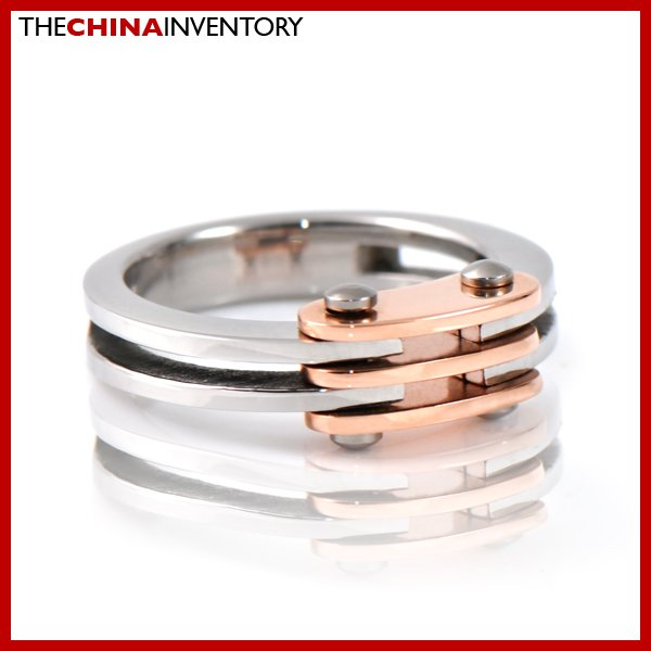 SIZE 9 STAINLESS STEEL ROSE GOLD BAND RING R2804