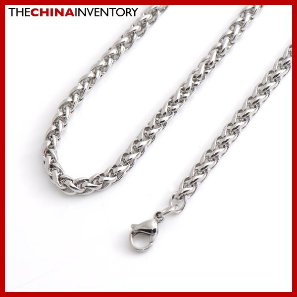 "5MM 24"""" STAINLESS STEEL ROUND LINK CHAIN NECKLACE N3412"