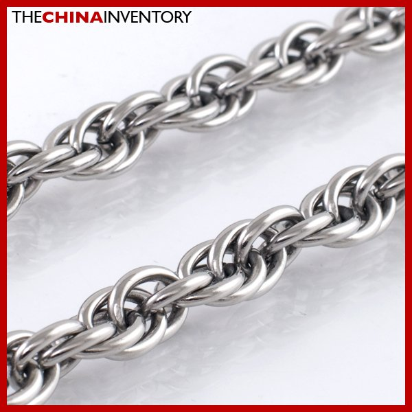 "9MM 22"""" STAINLESS STEEL TRIPLE CABLE NECKLACE N2101"