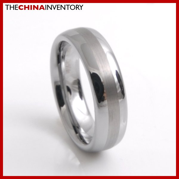 MENS 6MM SIZE10 TUNGSTEN CARBIDE MATTE BAND RING R3803B