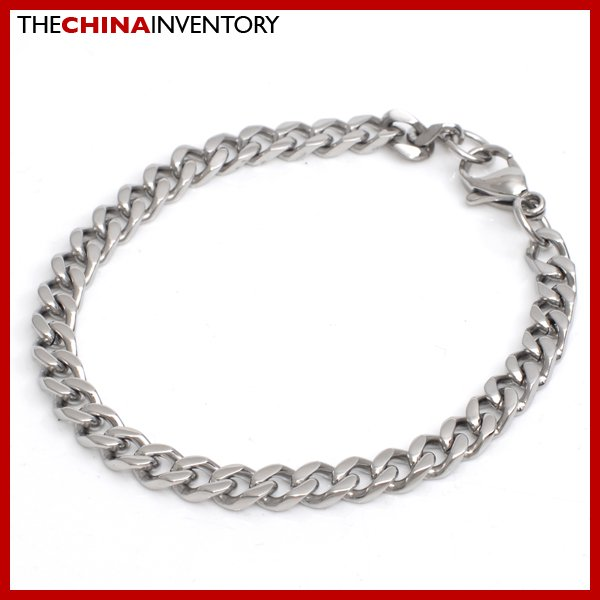 "9"""" 5.5MM STAINLESS STEEL CURB CHAIN BRACELET B3410"