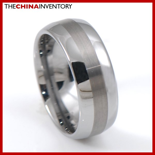 MEN 8MM SIZE 10 TUNGSTEN CARBIDE MATTE BAND RING R3803A