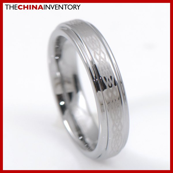 SIZE 5 MENS CELTIC TUNGSTEN CARBIDE BAND RING R3806