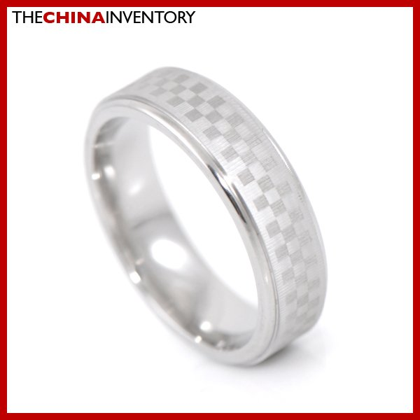 6MM SIZE 7 STAINLESS STEEL BRUSHED BAND RING R2702A