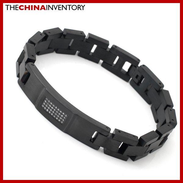 20CM BLACK STAINLESS STEEL BRACELET FOR MEN B3901