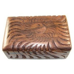 Ying Yang Carved Tarot Box