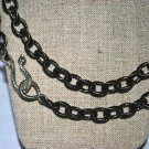 Gun Metal with Silver Snake Clasp Necklace - Shoshanna Lee