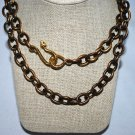 Brass Metal with Gold Snake Clasp Necklace - Shoshanna Lee