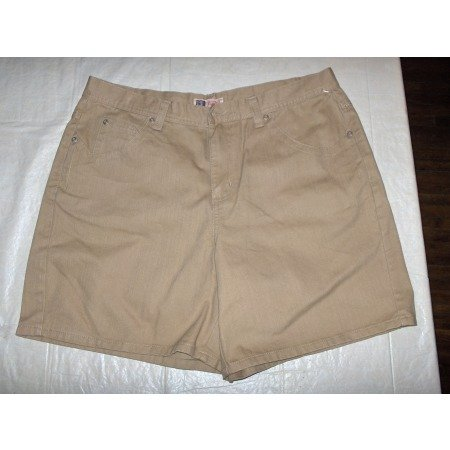 Faded Glory golden denim shorts womens 14 nwot