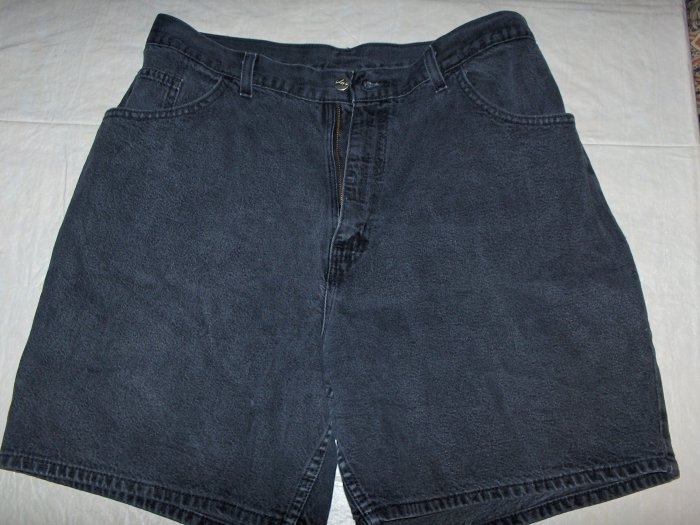 Chic black denim shorts-womens 16