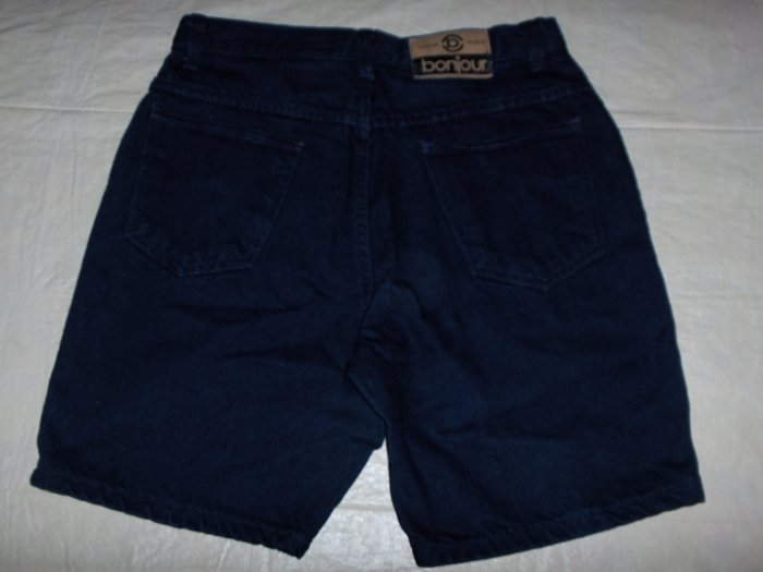 Bonjour dark blue denim shorts 5 button fly size 11/12