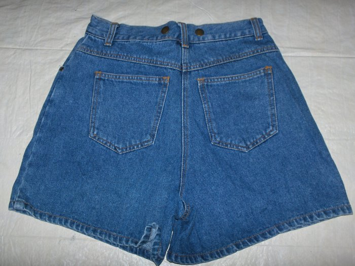 Boutique Europa denim shorts Jrs. size 10 suspenders